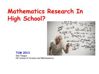 Mathematics Research In High School?