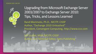 Upgrading from Microsoft Exchange Server 2003