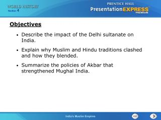 Describe the impact of the Delhi sultanate on India.