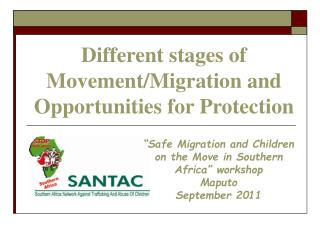 Different stages of Movement/Migration and Opportunities for Protection