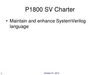 P1800 SV Charter
