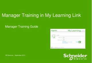 Manager Training in My Learning Link