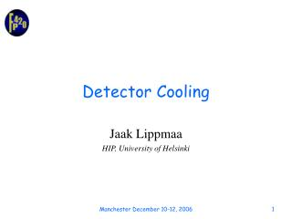 Detector Cooling