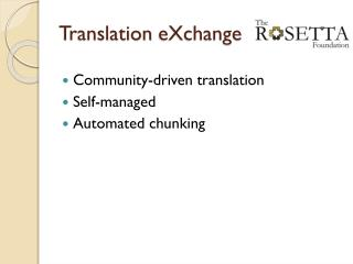 Translation  eXchange