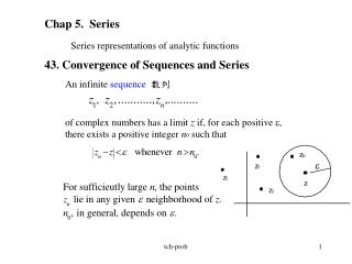 Chap 5.  Series Series representations of analytic functions