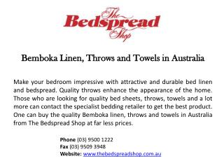 Bemboka Soft Cotton Jacquard Towels
