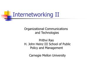 Internetworking II