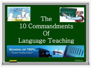 The  10 Commandments Of Language Teaching
