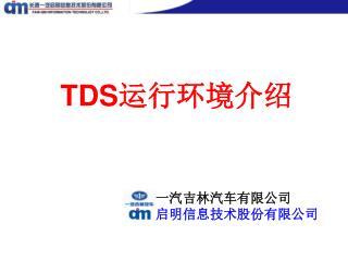 TDS 运行环境介绍