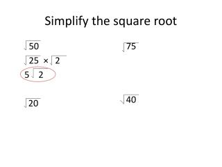 Simplify the square root