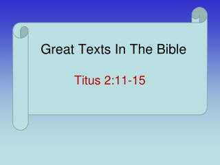 Great Texts In The Bible