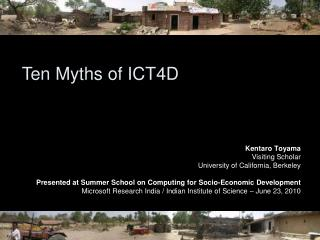Ten Myths of ICT4D