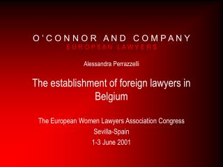 The European Women Lawyers Association Congress Sevilla-Spain 1-3 June 2001