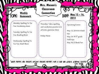 Mrs. Mason�s Classroom Connection