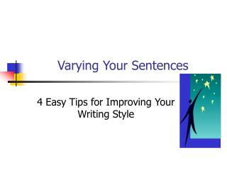 Varying Your Sentences