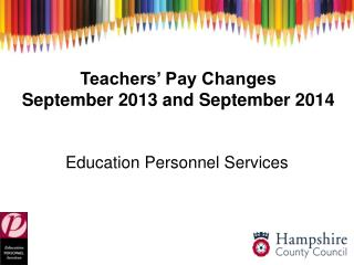 Teachers' Pay Changes September 2013 and September 2014
