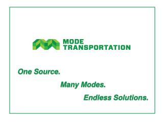 One Source. Many Modes. Endless Solutions.