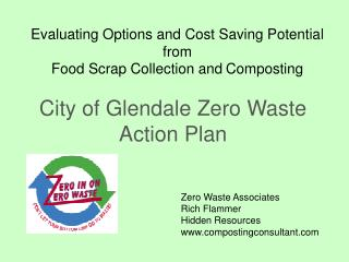 Evaluating Options and Cost Saving Potential from  Food Scrap Collection and Composting