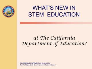 at The California Department of Education?
