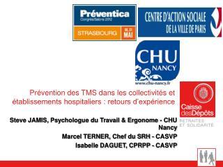 Prévention des TMS dans les collectivités et établissements hospitaliers : retours d'expérience