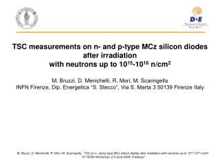 TSC measurements on n- and p-type MCz silicon diodes after irradiation