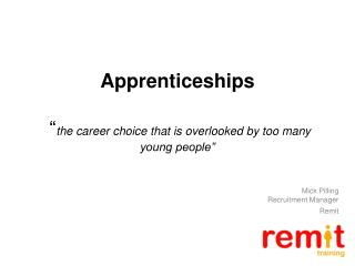 "Apprenticeships  "" the career choice that is overlooked by too many young people"""
