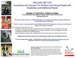 Tuesday 17 th  April 2012 - 9.30am to 2.30pm