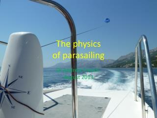 The physics  of parasailing