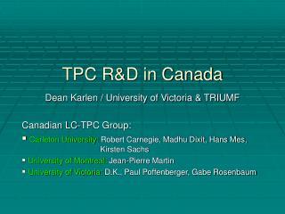 TPC R&D in Canada
