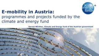 E-mobility in Austria: programmes and projects funded by the climate and energy fund