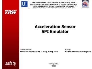 Acceleration Sensor  SPI Emulator