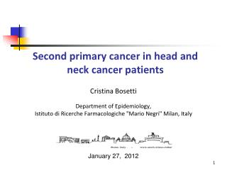 Second primary cancer in head and neck cancer patients