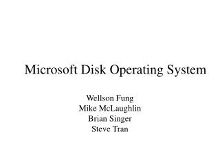 Microsoft Disk Operating System