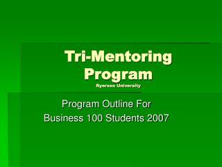 Tri-Mentoring  Program Ryerson University
