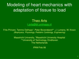 Modeling of heart mechanics with adaptation of tissue to load