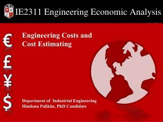 IE2311  Engineering Economic Analysis