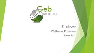Employee  Wellness  Program Sneak Peak