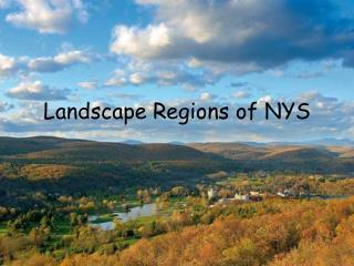 Landscape Regions of NYS