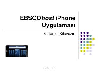EBSCO host  iPhone  Uygulaması