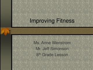 Improving Fitness