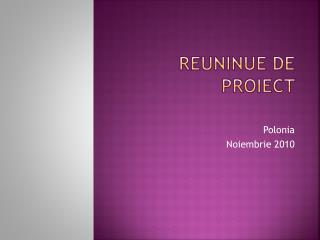 Reuninue  de  proiect