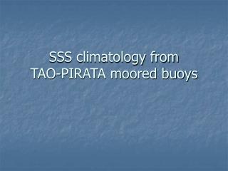 SSS climatology from  TAO-PIRATA moored buoys