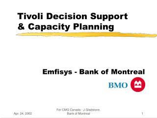 Tivoli Decision Support & Capacity Planning
