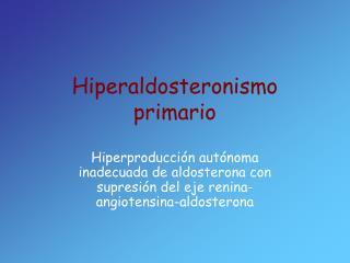 Hiperaldosteronismo primario