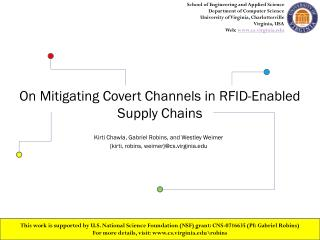 On Mitigating Covert Channels in RFID-Enabled Supply Chains