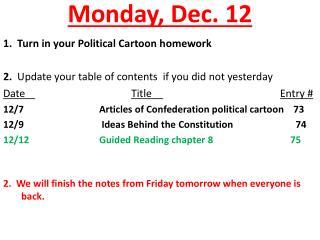 Monday, Dec. 12