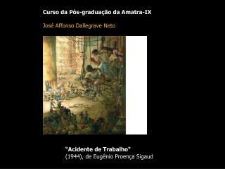 """Curso da Pós-graduação da Amatra-IX José Affonso Dallegrave Neto """"Acidente de Trabalho"""