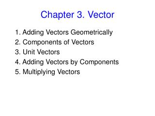Chapter 3. Vector