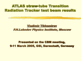 ATLAS straw-tube Transition Radiation Tracker test beam results