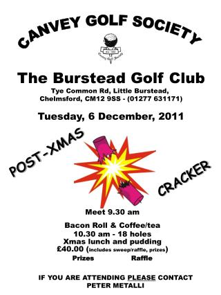 CANVEY GOLF SOCIETY